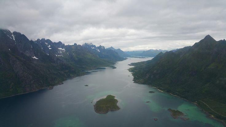 Norway, Svolvær, fjord
