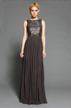 Rebecca Vallance-Hand beaded bodice with floor length flowing skirt #thegrandsocial #randompinsofkindness