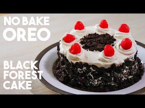 No-Bake Oreo Black Forest Cake (5 Ingredients) 【材料5つ!】超簡単、オレオを使ったドイツのブラックフォレストケーキ風 - YouTube