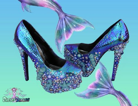 Mermaid shoes, Heels