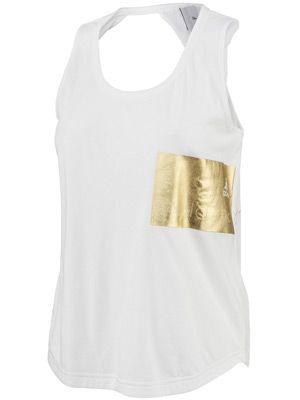 Canotta adidas Stella McCartney Logo Cotton Bianco