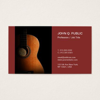 Guitar Instructor Music Teacher Musician Business Card - minimalist office gifts personalize office cyo custom