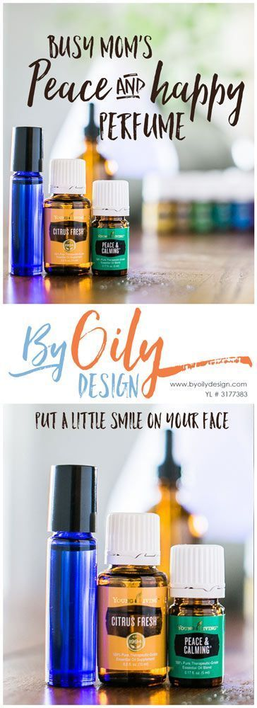 Make your own DIY Perfume. Essential Oil DIY perfume with Citrus Fresh and Peace & Calming essential oils. http://byoilydesign.com YL member # 3177383 #essentialoil