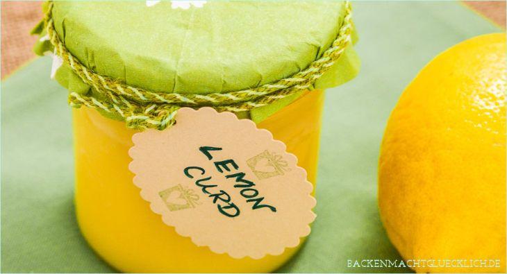 Zitronencreme Lemon Curd Rezept Geschenk aus der Kueche