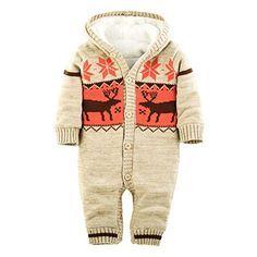 ZOEREA Baby Jungen Mädchen Weihnachten Elch Winter Strickjacke Pullover Jumper Strampler Babymode Sweatshirt Lange Ärmel verdicken plus Samt mit Kapuze Säugling Spielanzug Kletter Kleidung(0-24m) Zoerea http://www.amazon.de/dp/B015SOOG9I/ref=cm_sw_r_pi_dp_AB5pwb1Y5T8N3
