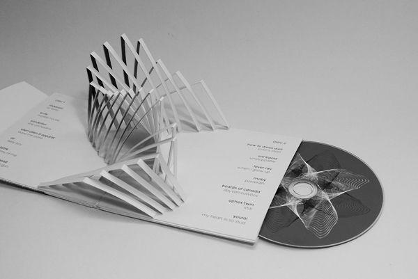 Pop-up CD packaging by Lilla Tóth, via Behance