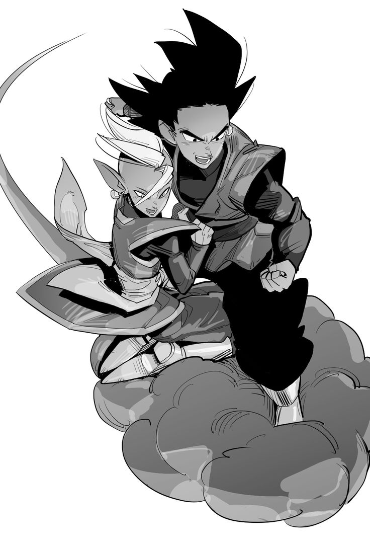 Black Goku and Zamasu