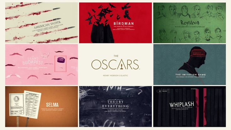 Best Picture Oscar Nomination Title Sequence - 2015