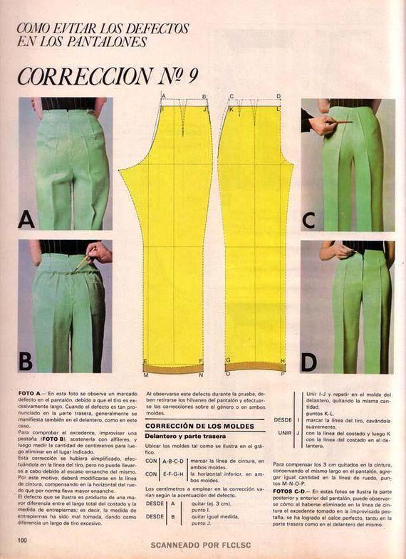Корректировка выкройки брюк #9