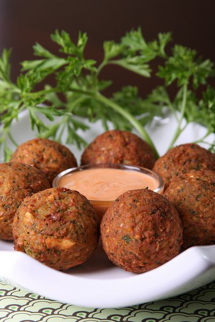 Vegan Spicy Fava Bean Falafel. Want to read about the best falafel joints in Tel Aviv? Click on the image for the full story by TheCultureTrip.com! (image via olivesfordinner)