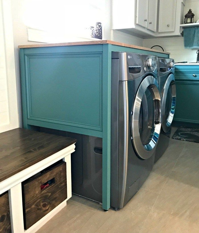 Easy Over Washer And Dryer Diy Laundry Table Laundry Table Diy Laundry Laundry Room Remodel
