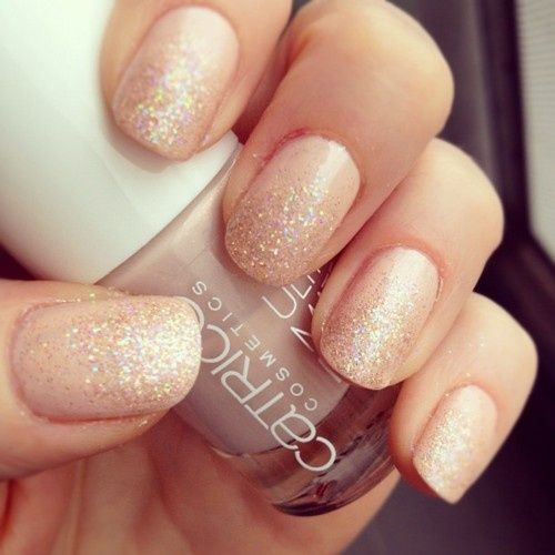 Champagne nails! So pretty =)