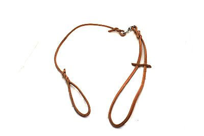 Show leash, natural leather cord