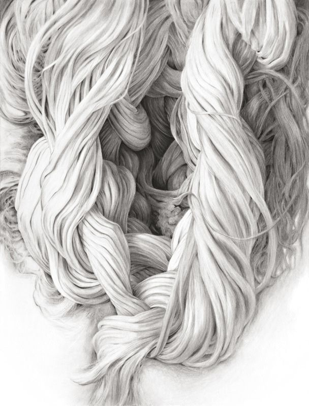 Huguette Despault May - Ropes, charcoal on paper