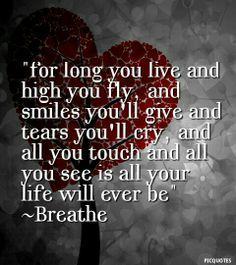 breathe lyrics - pink floyd