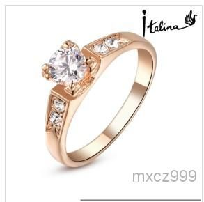 18k Rose Gold Plated Ring For Woman Made With Swarovski Crystal Stellux Hight Quality Zirc From Mxcz999, $52.53 | Dhgate.Com