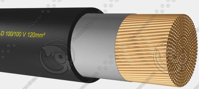 Max Welding Cable H01n2 D 100 100 - 3D Model