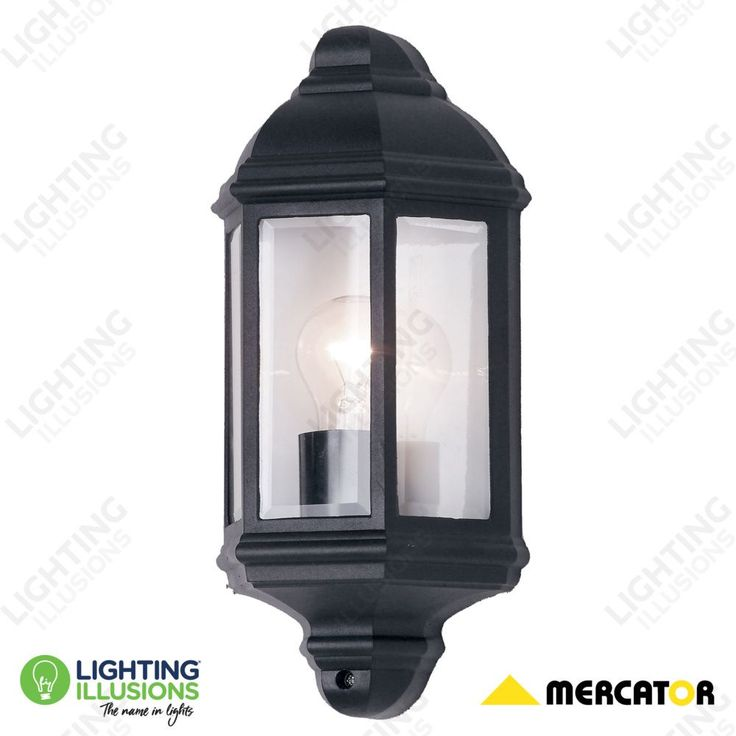 Black Nepean Exterior 1 Light Half Wall Coach Light