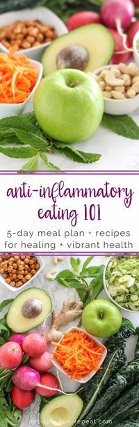 Ant-Inflammatory Eating 101 - 5-day meal plan + recipes for healing and vibrant health || Eat Spin Run Repeat // @eatspinrunrpt