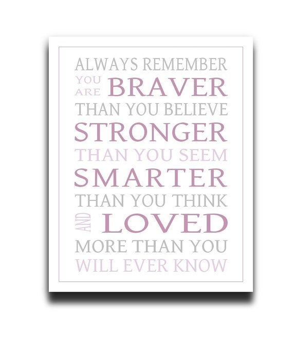 Always Remember You Are Braver DIY Printable by PrintablePrints, $5.00