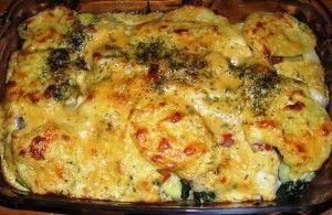 Kabeljauw op Italiaanse wijze, is een goed gevulde kabeljauw ovenschotel met spinazie, tomaten en gorgonzola.