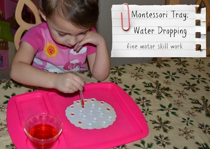 Tutus and Tea Parties: Montessori Tray | Water Dropper Work