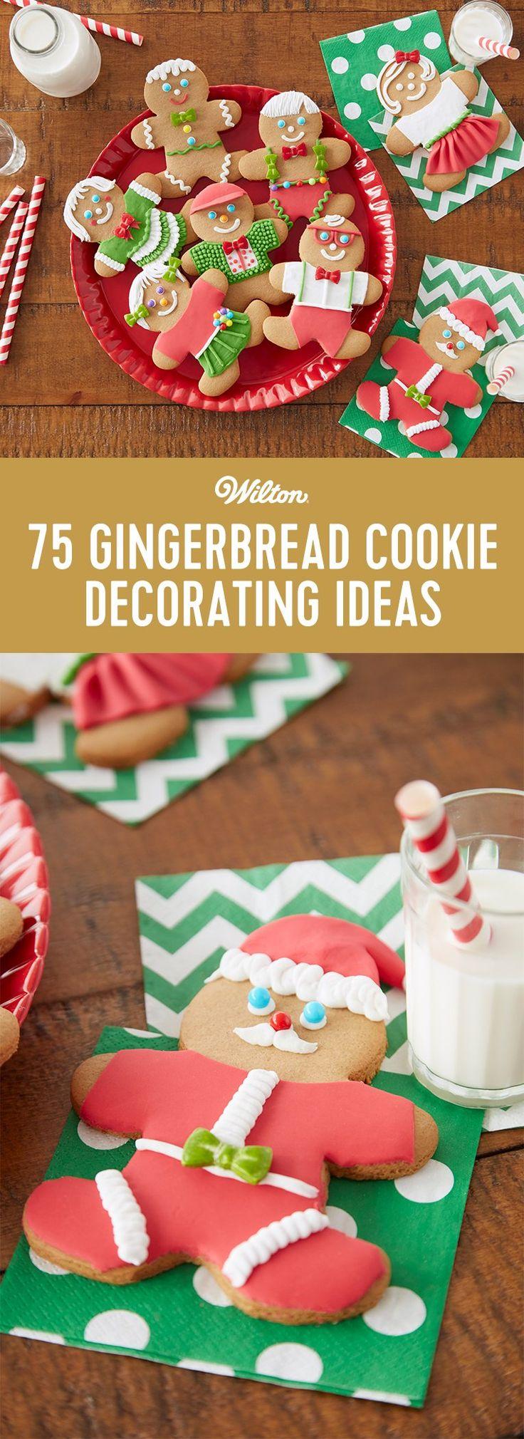75 ideas de cómo decorar una galleta de jengibre.