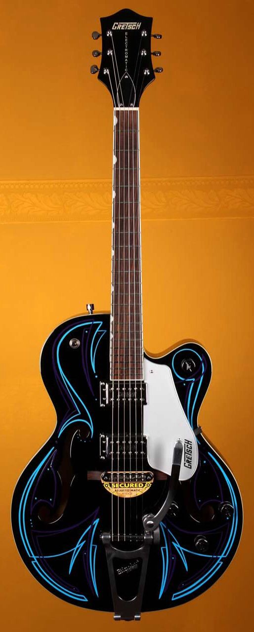 GRETSCH Limited Edition G5120T Custom Pinstripe Electric Guitar - Black #37 | Small White Mouse