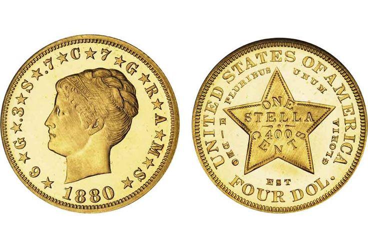 Rare $4 Stella Coiled Hair Cameo coin could sell for $1.5 million at Bonhams Los Angeles