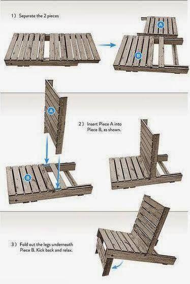 Transformar palet en un sillón - Paso a paso.