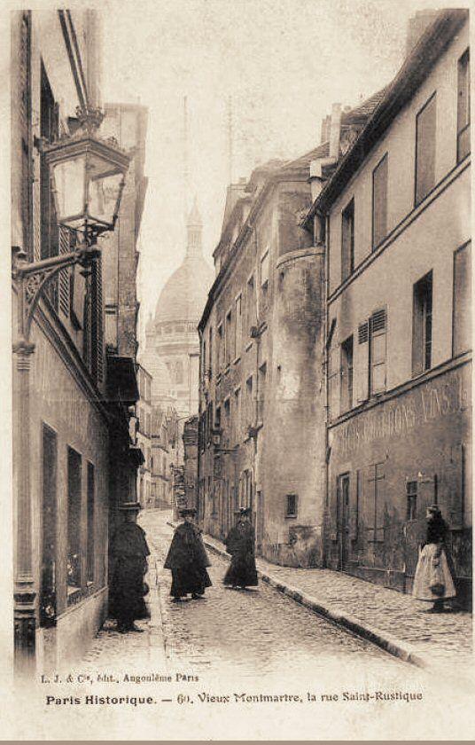 rue Saint-Rustique vers 1900