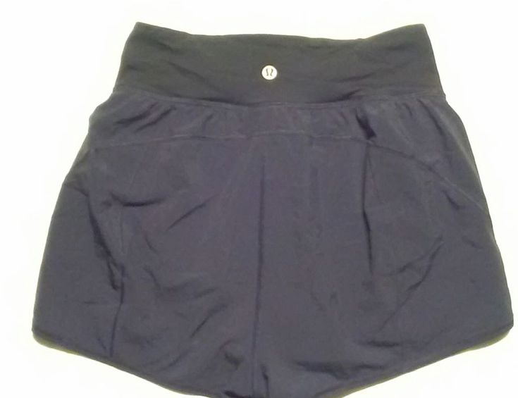 Lululemon Athletica Size 4 shorts black Running Yoga lined #Lululemon #Shorts