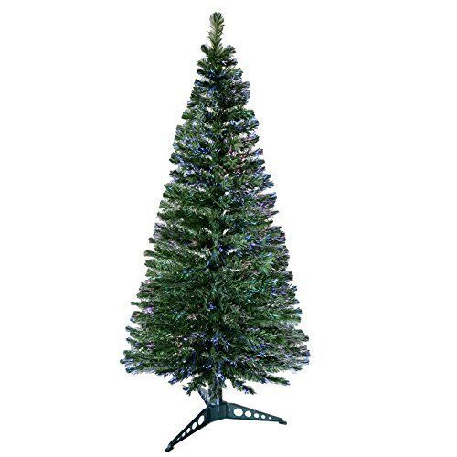 6ft Fibre Optic Christmas Tree Artificial Xmas Trees Indoor Color Changing Led #6ftFibreOpticChristmasTree