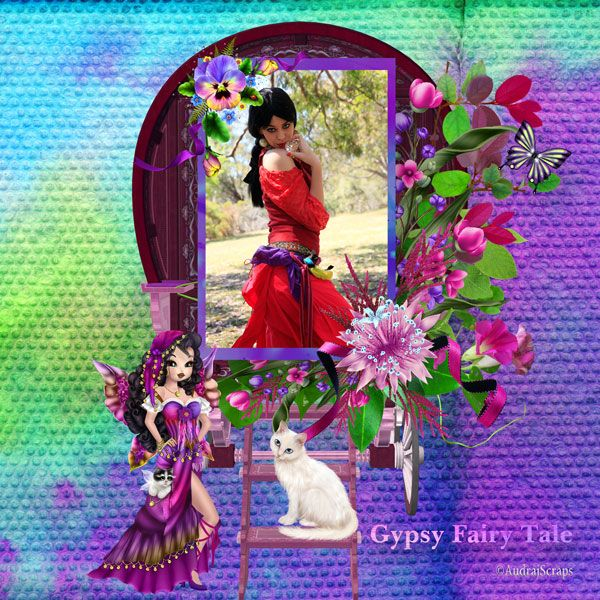 Gypsy Fairy Tale by Desclics  Available @ http://www.paradisescrap.com/fr/91_desclics Photo faestock