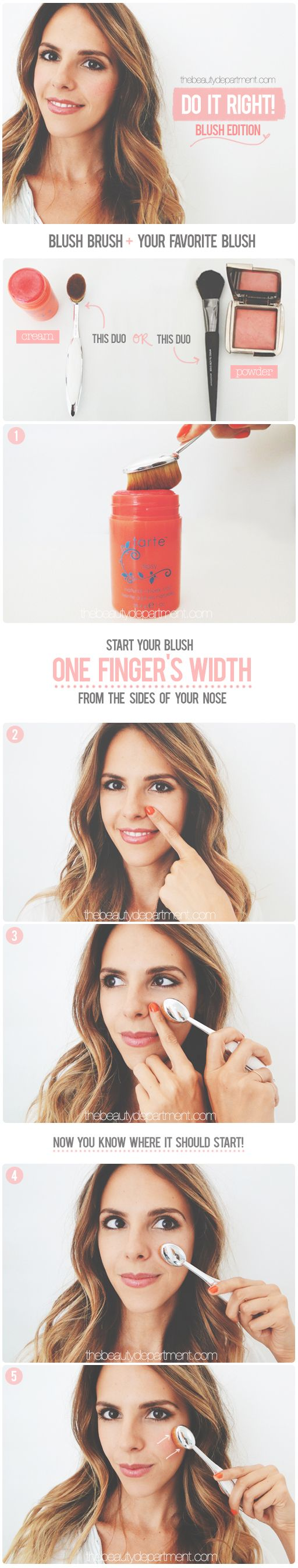 thebeautydepartment.com blush trick