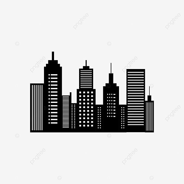 Black And White City Skyline Background City Clipart Skyline City Png And Vector With Transparent Background For Free Download Black And White City Black And White Background Black And White