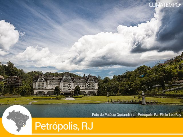 PETRÓPOLIS / RJ - apresenta um clima tropical de altitude, com verões úmidos e temperaturas que passam de 30 graus, e invernos secos e relativamente mais frios, com a temperatura média em torno de 15 graus.