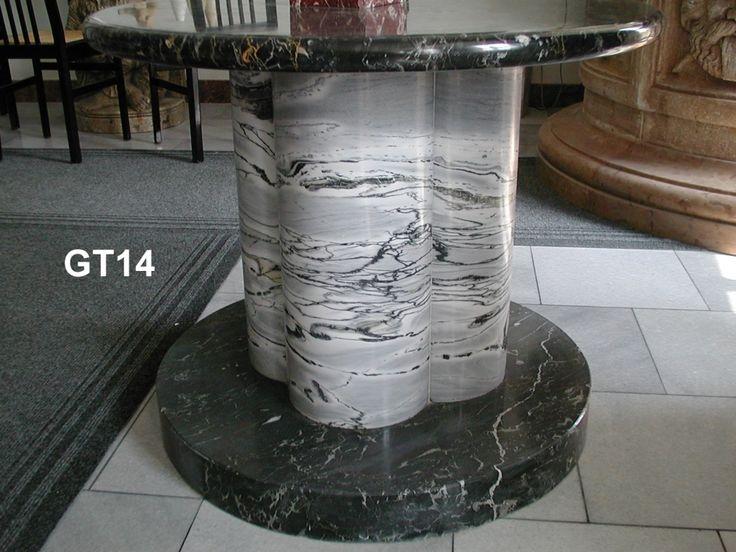 Gambe per tavolo in marmo - http://achillegrassi.dev.telemar.net/project/tavolo-con-gamba-in-marmo-nero-marquina-bianco-carrara-e-nero-portoro-lucidi/ - Tavolo con gamba in Marmo Nero Marquina, Bianco Carrara e Nero Portoro lucidi Dimensioni:  90cm (H)