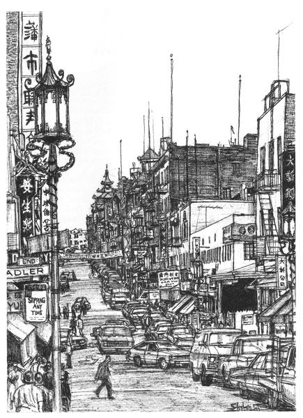 Chinatown San Francisco / Stephen Wiltshire