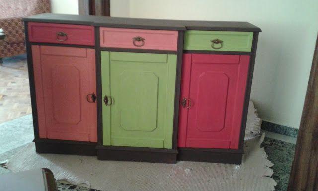 marileni: Ανανέωση παλιού ντουλαπιού με σπιτική chalkpaint και αυθεντική ....