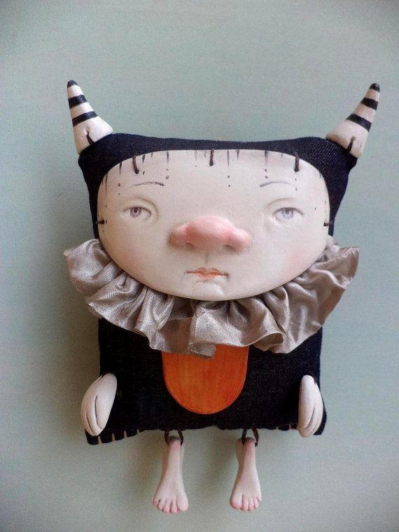 Dylan the little monster Art Doll. by Petuqui on Etsy, $140.00