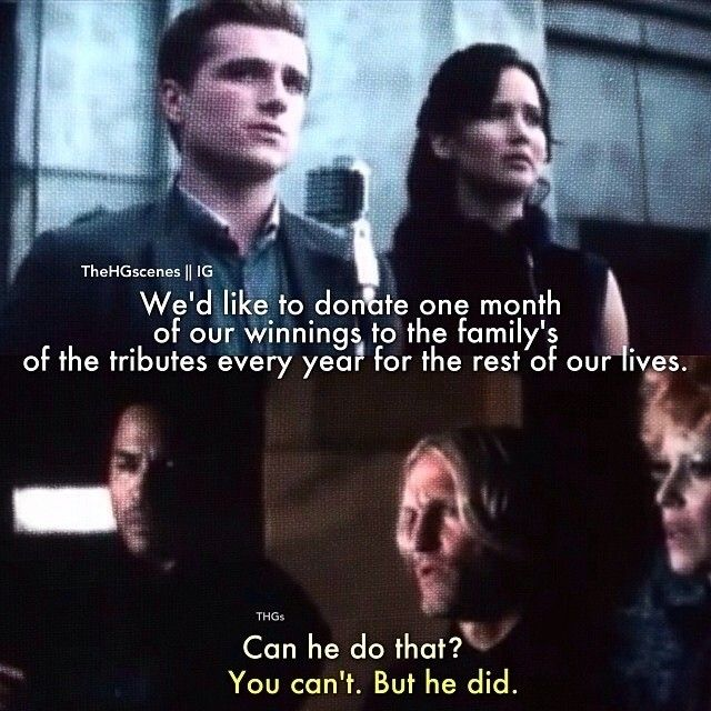 Haymitch discribed perfectly every annocement Peeta does in one sentece