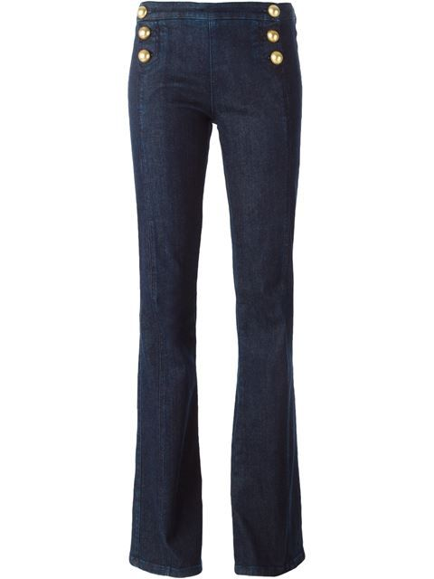 Bootcut high waisted trousers