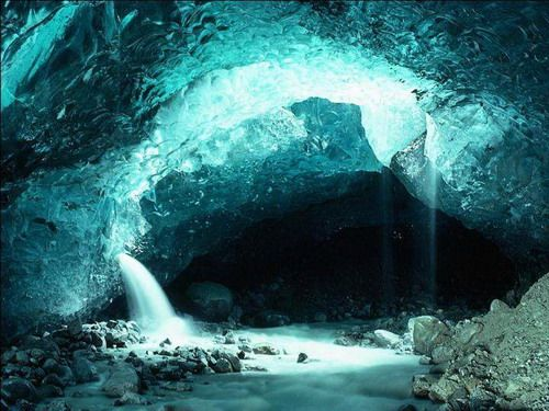 """The Eisriesenwelt (German for """"World of the Ice Giants"""") is a natural limestone ice cave located in Werfen, Austria, about 40 km south of Salzburg, inside the Hochkogel mountain in the Tennengebirge section of the Alps. It is the largest ice cave in the world, extending more than 42km."""