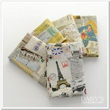 Retro Britse kranten katoen linnen stof printing vintage katoen hennep stof DIY home decor katoen 50*110 cm(China)