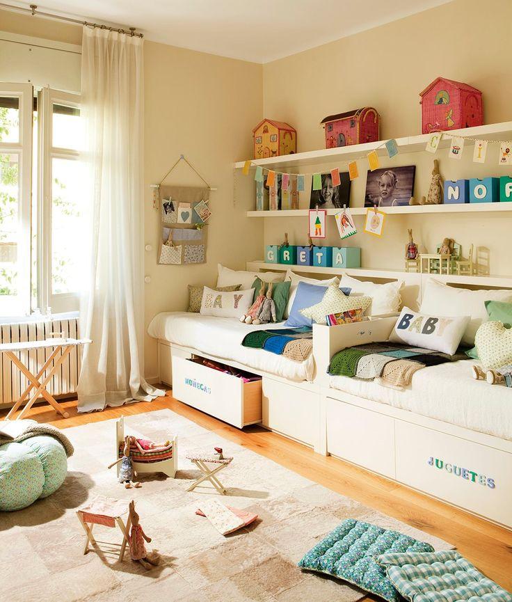 Las 25 mejores ideas sobre habitaciones de gemelos en - Ideas habitaciones ninos ...