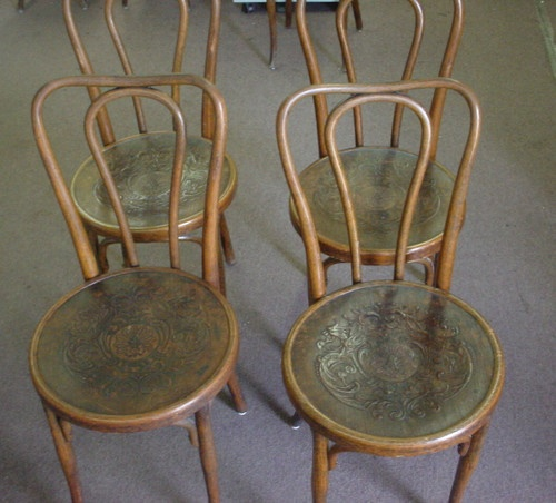 Rare Set Antique Jacob Josef Kohn Bentwood Chair Austria