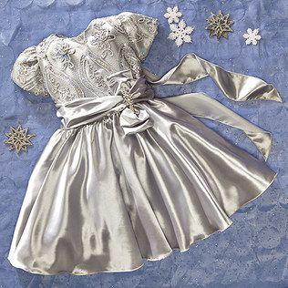 FLOWER GIRL PRINCESS La Sandra Silver Gown