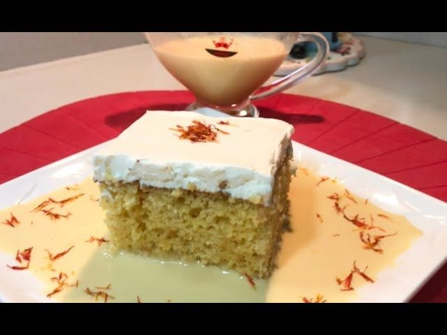 كيكة الرعفران معشوقة الجماهير اتمنى تجربوها كيكة الزعفران Milk Cake Vanilla Cake Desserts