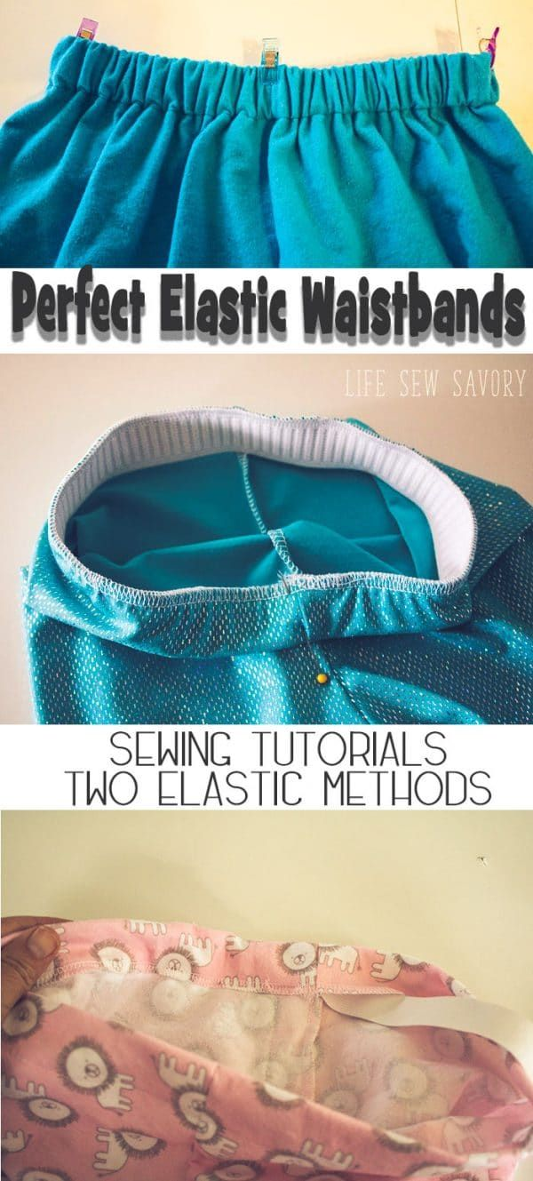 learn How to Sew Elastic Waistband with or without a casing for your elastic wai…